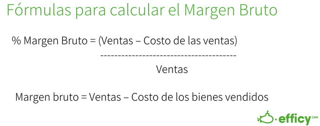 gross margin - formula margen bruto