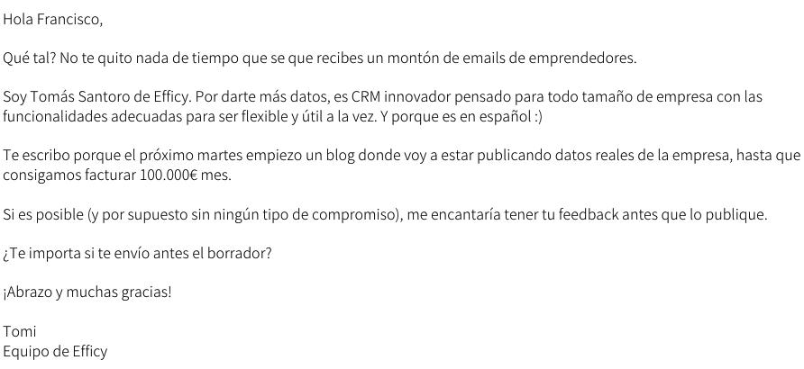 email de influencers