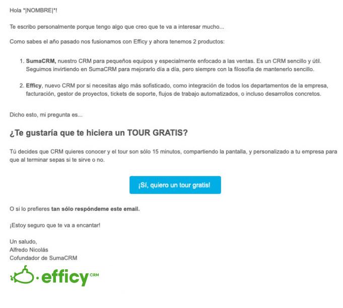 email marketing de productos