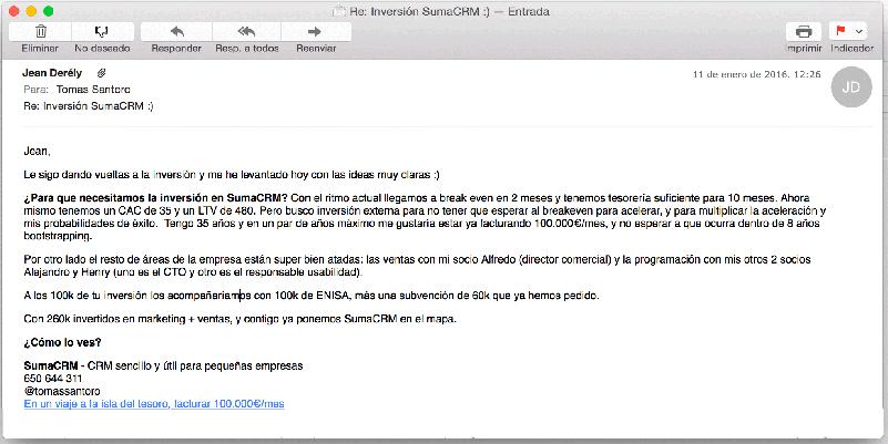 email de inversion